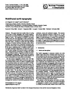 Multifractal earth topography - McGill Physics - McGill University