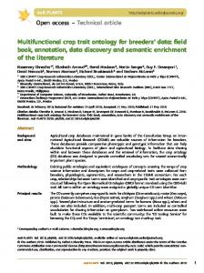 Multifunctional crop trait ontology for breeders' data
