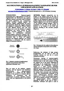 multifunctional superparamagnetic nanoparticles for life science ...