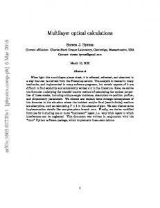 Multilayer optical calculations