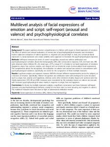Multilevel analysis of facial expressions of emotion and ... - Springer Link