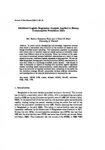 Multilevel Logistic Regression Analysis Applied to Binary ...