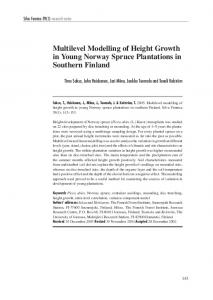 Multilevel modelling of height growth in young Norway spruce ...