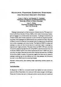 Multilevel Passenger Screening Strategies for Aviation Security Systems