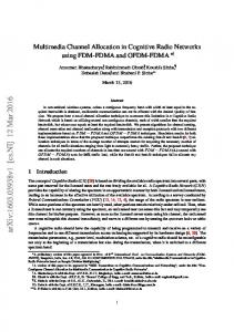 Multimedia Channel Allocation in Cognitive Radio Networks using ...
