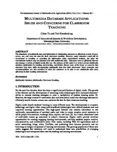 MULTIMEDIA DATABASE APPLICATIONS: ISSUES AND ... - arXiv