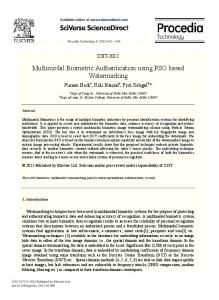 Multimodal Biometric Authentication using PSO ... - Semantic Scholar