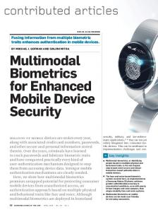 Multimodal Biometrics for Enhanced Mobile