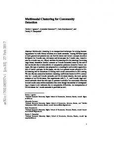 Multimodal Clustering for Community Detection