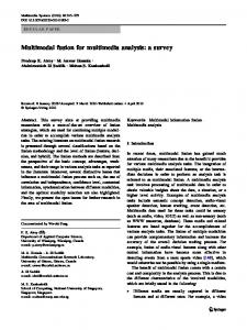 Multimodal fusion for multimedia analysis: a survey - CiteSeerX