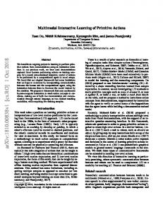 Multimodal Interactive Learning of Primitive Actions