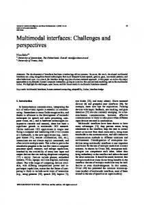 Multimodal interfaces: Challenges and perspectives - Department of ...