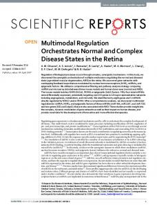 Multimodal Regulation Orchestrates Normal and ...