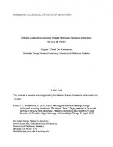 MULTIMODAL REVOICING INTERACTIONS Refining Mathematical ...