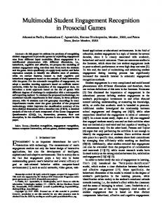 Multimodal Student Engagement Recognition in Prosocial Games