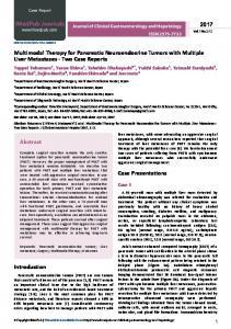 Multimodal Therapy for Pancreatic Neuroendocrine Tumors ... - iMedPub