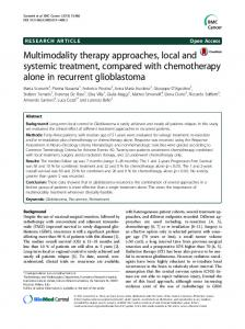 Multimodality therapy approaches, local and systemic ... - Springer Link