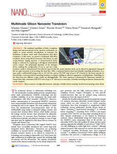 Multimode Silicon Nanowire Transistors - ACS Publications