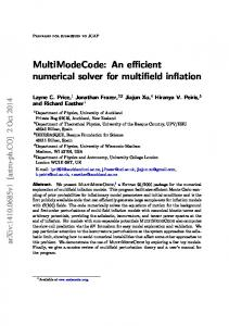 MultiModeCode: An efficient numerical solver for multifield ... - arXiv