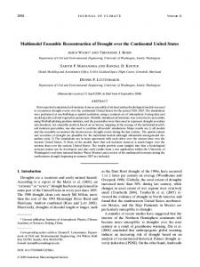 Multimodel Ensemble Reconstruction of Drought over ... - AMS Journals