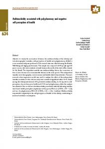 Multimorbidity associated with polypharmacy and negative ... - Scielo.br