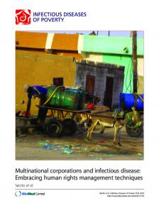 Multinational corporations and infectious disease: Embracing ... - edoc