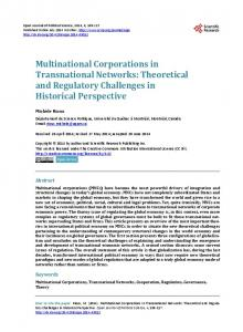 Multinational Corporations in Transnational Networks - Scientific ...