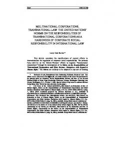 multinational corporations, transnational law: the united ... - SSRN