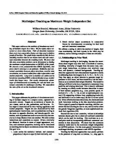 Multiobject Tracking as Maximum Weight Independent Set