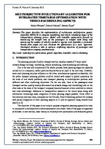 multiobjective evolutionary algorithm for integrated ... - Perner's Contacts