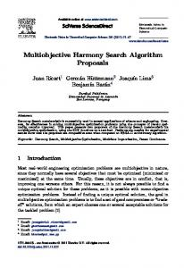 Multiobjective Harmony Search Algorithm Proposals - Semantic Scholar
