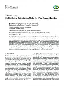 Multiobjective Optimization Model for Wind Power Allocation