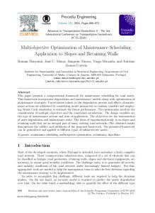 Multiobjective Optimization of Maintenance Scheduling: Application to ...