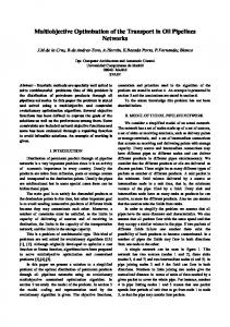 Multiobjective Optimization of the Transport in Oil Pipelines Networks