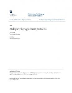 Multiparty key agreement protocols - Research Online - UoW