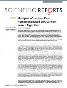 Multiparty Quantum Key Agreement Based on