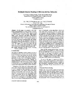 Multipath source routing in wireless ad hoc networks - College of ...