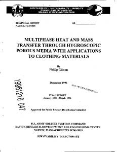 Multiphase Heat and Mass Transfer Through ...