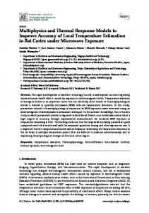 Multiphysics and Thermal Response Models to Improve ... - MDPI
