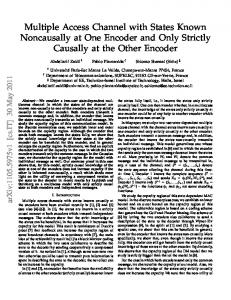 Multiple Access Channel with States Known Noncausally at ... - arXiv