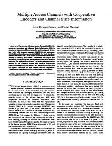 Multiple Access Channels with Cooperative Encoders and ... - arXiv
