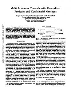 Multiple Access Channels with Generalized Feedback and ... - arXiv