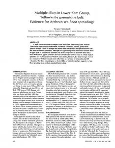 Multiple dikes in Lower Kam Group, Yellowknife ... - GSA Publications