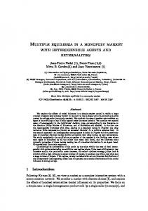 Multiple equilibria in a monopoly market with heterogeneous agents ...