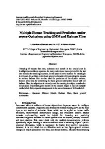 Multiple Human Tracking and Prediction under severe