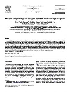 Multiple image encryption using an aperture ...