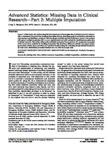 Multiple Imputation - Wiley Online Library