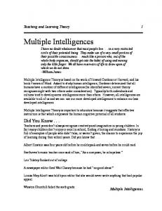 Multiple Intelligences-An Introduction.pmd