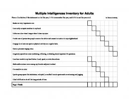 Multiple Intelligences Inventory for Adults