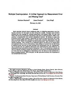 Multiple Overimputation: A Unified Approach to ...